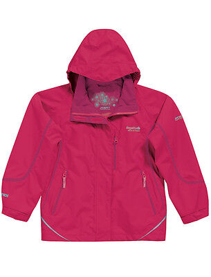 Regatta GIrls Waterproof and Breathable Jacket: 3/4yr,  9/10yr,14yr - BNWT