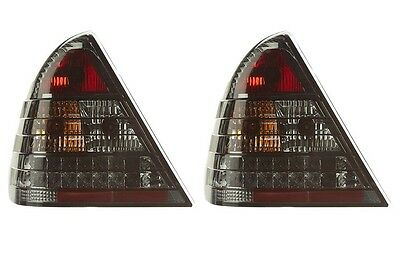 Mercedes benz C-Class W202 Led Rear Tail Lights Sport Smoke Black Pair New 94-02