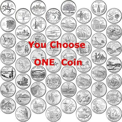 Any ONE Coin - 1999 - 2009 State Quarter & Territories - Uncirculated - D Mint