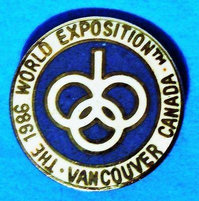 Vancouver - 1986 - World Exposition - Canada - Vintage Lapel Pin - Hat Pin