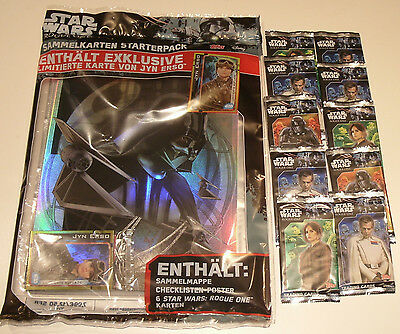 Topps Star Wars Rogue One - Starterpack + 10 Booster NEU & OVP