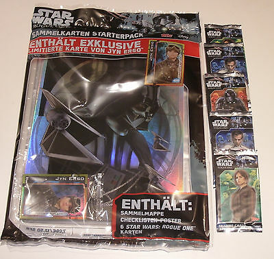 Topps Star Wars Rogue One - Starterpack + 5 Booster NEU & OVP