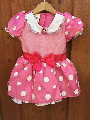 MINNIE MOUSE PINK TODDLER GIRLS 18-24 Months COSTUME DISNEY STORE DRESS UP
