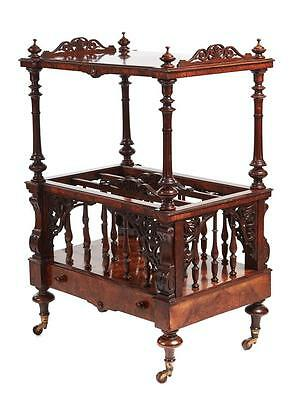 19Th Century Freestanding Victorian Burr Walnut Canterbury