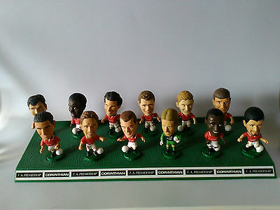 Lot of 12 1995 Manchester United Corinthian Figures with Stand and Cards