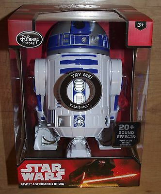 Disney Store Star Wars Talking Interactive R2-D2 Robot Droid The Force Awakens
