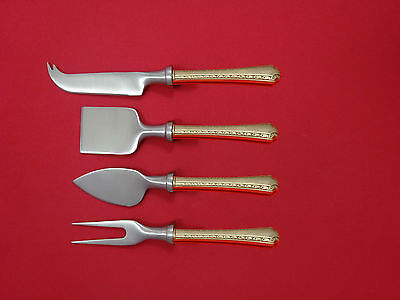 Larkspur by Wallace Sterling Silver Cheese Serving Set 4 Piece HHWS  Custom