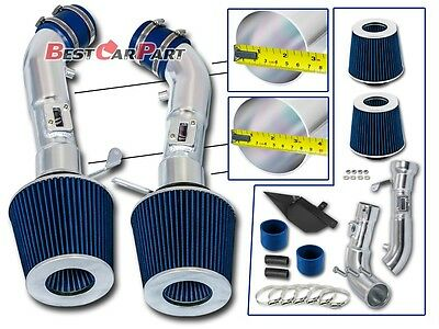 BCP BLUE Heat Shield Cold Air Intake Induction +Filter For 09-15 370Z /08-13 G37