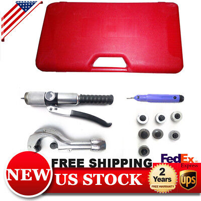 US! Hydraulic Tube Expander Swaging 7 Lever Tubing Expander Tools Kit HVAC Tools