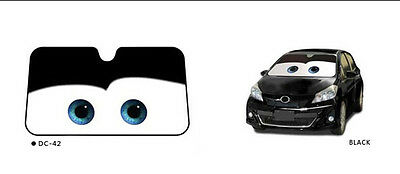 New Hot Sale Big Eyes Pixar Cars Fashion Front Car Windshield Sun Shade Black