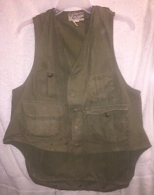 30s 40s 50s? Hinson Bodyguard Canvas Hunting Vest with Game Bag USA RARE