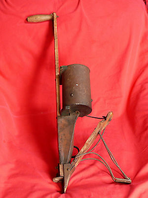 ANTIQUE 1893 Hand Operated CORN SEEDER SPREADER By Sheffield in Burr Michigan