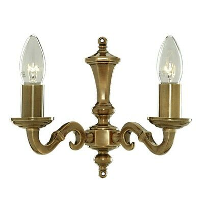 Wall Light from Genuine Antique Brass E14 2fl Wall Lamp Solid Lamp Wall Corridor