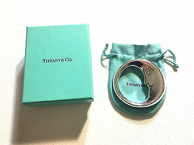 Tiffany & Co. Sterling Silver Man in the Moon Baby Teether Rattle in Pouch & Box