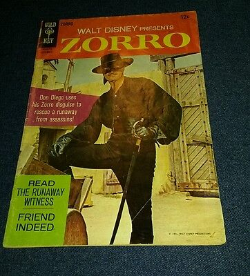WALT DISNEY'S ZORRO #7 TV GUY WILLIAMS PHOTO COVERS GOLD KEY SILVER AGE 1967 lot