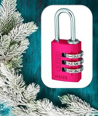 Travel Idea-ABUS Combination Travel Padlocks-Resettable-PINK-Free Post