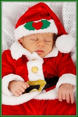 30 Custom Baby Christmas Personalized Address Labels