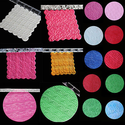 New Texture Embossing Acrylic Rolling Pin Icing Cake Sugarcraft Decorating Tools