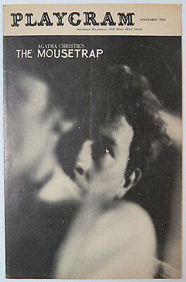 """""""The Mousetrap"""" Theatre Program, by Agatha Christie, Angela Thornton, 1960"""