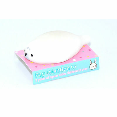 Lovely Stretch Seal Sea Lion Mochi Squeeze Squishy Toy Soft Doll Packed With Box