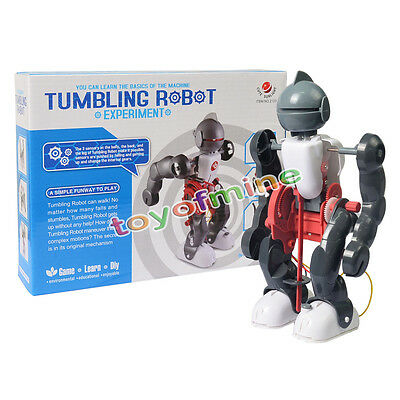 Tumbling Robot Science Kit DIY Toy Experiment Kit Science Guide Kid Gift in Box