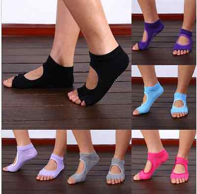 New 1 Pair Half Toe Ankle Grip Durable Yoga Pilates Socks Five Finger No-Slip