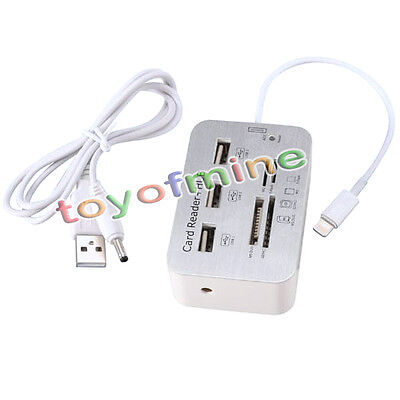 7 in 1 8 Pin Camera Connection Kit Card Reader SD MS MMC TF USB for iPad 4 Mini