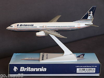 Early Britannia Airways Boeing 737-800 Push Fit Collectable Model 1:200 Scale