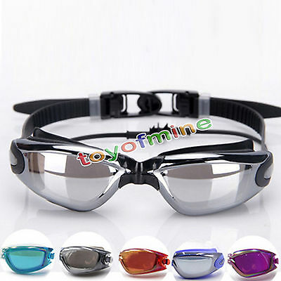 Adjustable Eye Protect Non-Fogging Anti UV Swimming Swim Goggle Glasses Adult