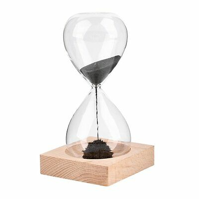 Hand-blown Glass Sand Magnet Magnetic Hourglass Timer Clock Gift Home Decor M2