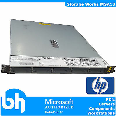 "HP Storageworks MSA50 Storage Array 10x 2.5"" Bays Enclosure JBOD RAID SAN DAS"