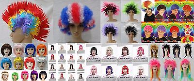 Pack Of 50 Assorted Synthetic Wigs, Wholesale, Bulk, Fancy Dress