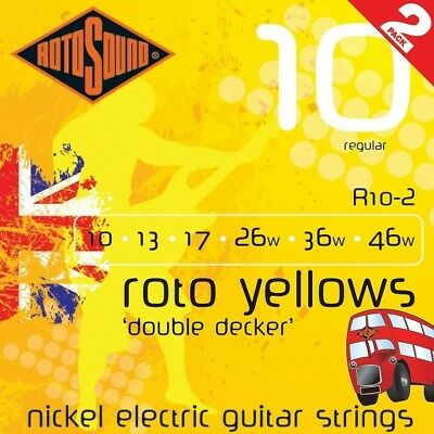 Rotosound R10-2 Double Decker Roto Yellow Electric (10-46) 2 x SETS