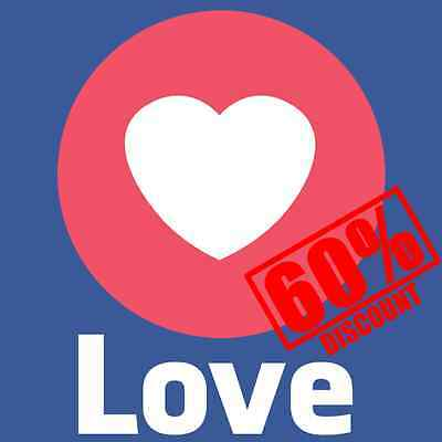 1000 Facebook Love Like for Photo/Video/Post - FAST DELIVERY - CHEAPEST ON EBAY