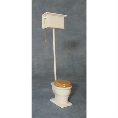 High Level Edwardian Style Toilet 1:12 Scale for Dolls House
