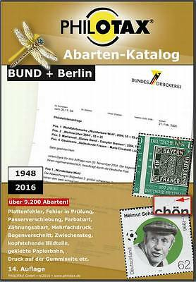 PHILOTAX - DVD: Abarten-Katalog Bund + Berlin 2016, 14. Auflage - Vollversion