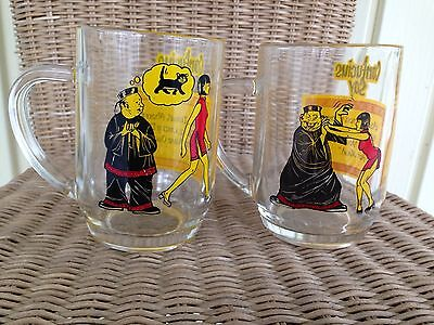"Vintage Naughty ""Confucius Say"" Glasses Beer Mugs"