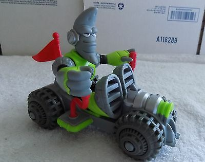 """Fisher-Price Planet Heroes MOON """"Lunar"""" figure w/ his Moon Rover--RARE"""