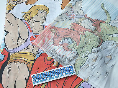 Vintage He-Man Single Bedding Sheets 1983 Mattel MOTU Toy