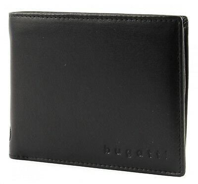 bugatti City Line Coin Wallet with Flap 8CC Portemonnaie Herren Schwarz Black