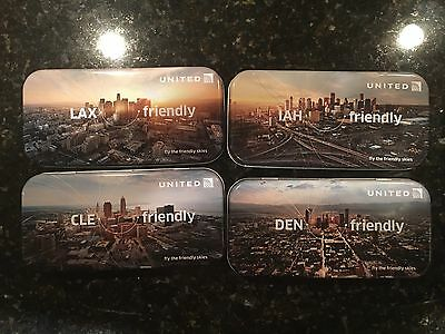 Collectible United® Airlines Domestic Skyline Amenity Kit Set-Of-8 Cities