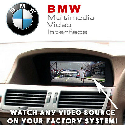 BMW 7 Series E65 Multimedia Video Interface With Rear Camera Input