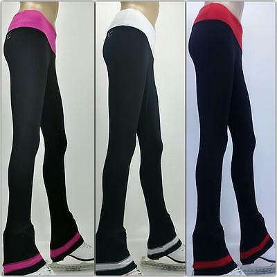 Ice Figure Skating Dress Practice Pants Trousers VCSP35 pants pink red purple