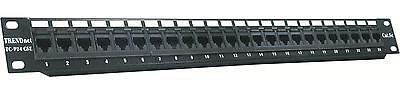 TC-P24C5E TRENDnet TC-P24C5E 24-Port Cat 5/5e Unshielded Patch Panel (Black)