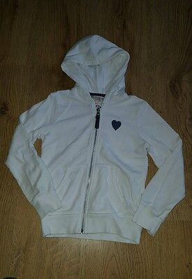 girls white hoodie. Zip up jacket. 7-8 yrs. From m&s