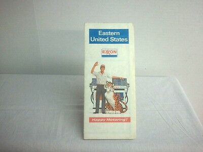 1973/1974 Exxon Eastern US Road Map - Out Of print Collectible- Free Shipping