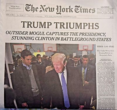 Donald Trump Wins Elected President Historic Win The New York Times 11-9-2016