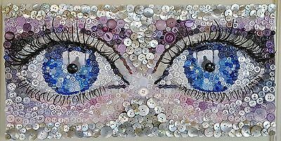 """The Eyes Have It"" Original Mixed Media Artwork"