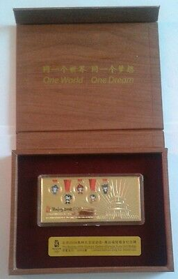 CHINA BEIJING 2008 OLYMPIC FUWA GILT BADGE no 09392 of 50000 LIMITED SETS - L@@K