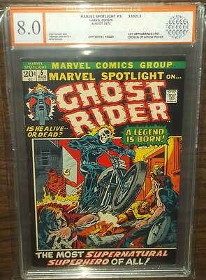 Marvel Spotlight #5 Egc ( 8.0 ) Off/w Pgs 1St App Of Ghost Rider Euro Grader
